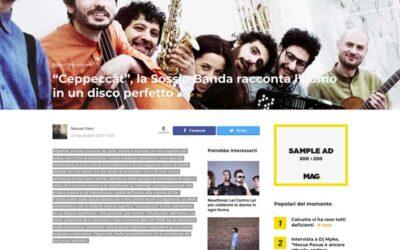 """BLU NOTE MUSIC: """"Ceppeccàt"""", la Sossio Banda racconta l'uomo in un disco perfetto"""