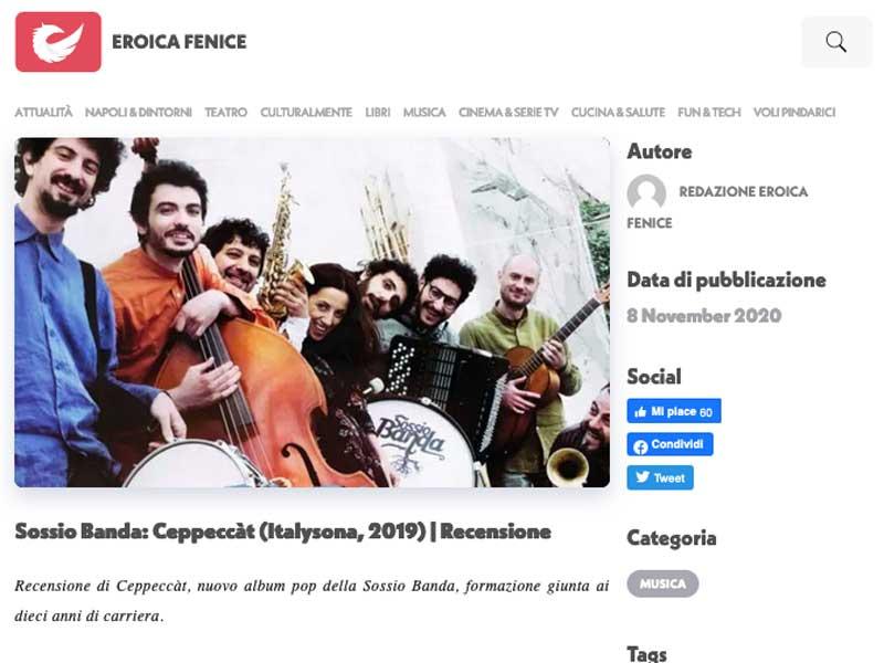 EROICA FENICE: Ceppeccàt, recensione