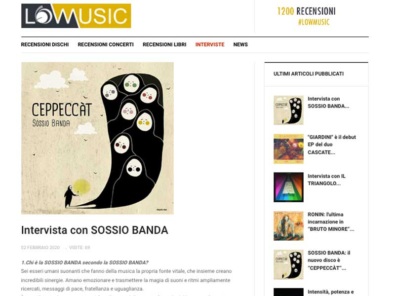 LOWMUSIC: Intervista con Sossio Banda