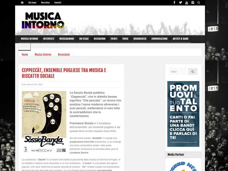 MUSICA INTORNO: Ceppecàt, ensemble pugliese tra musica e riscatto sociale