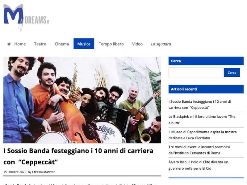 MY DREAMS: I Sossio Banda festeggiano 10 anni di carriera