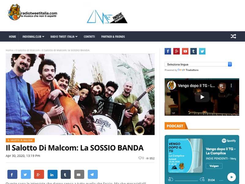 Il Salotto di Malcom: la SOSSIO BANDA